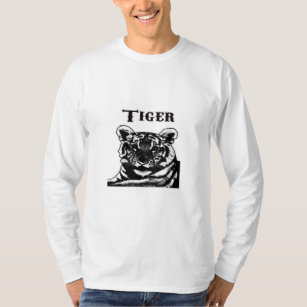 Silhouette tiger drawing on T-Shirt