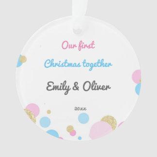 Silings Girl Boy First Christmas Ornament Confetti