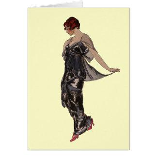 Silk Evening dress 1914 Card