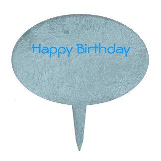 Silken Blue Sky - Happy Birthday Bound to Fly Cake Picks