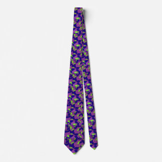 Silky Stained Leaves Men's Tie
