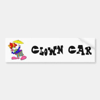 Silly Clown With Umbrella Car Bumper Sticker