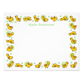Silly Duckies Green Baby Shower Thank You Card Invitations
