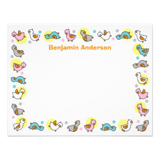 Silly Duckies Pastels Baby Shower Thank You Card Personalized Invite
