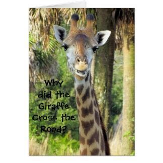 Silly Giraffe Birthday Card (For Children)
