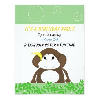 Silly Monkey Birthday Invitation