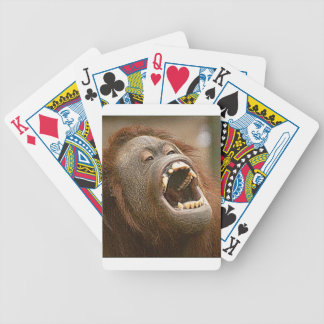 silly orangutan bicycle playing cards
