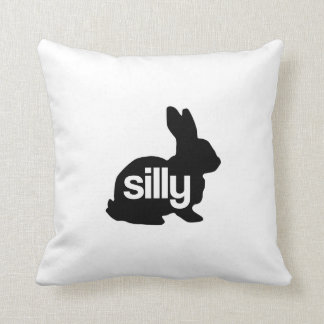 Silly Rabbit Throw Pillow