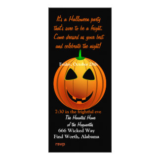 silly smiling pumpkin head personalized invitation