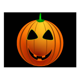silly smiling pumpkin head postcards