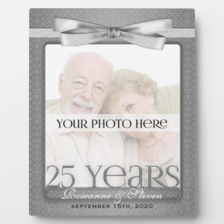 Silver 25th Wedding Anniversary 8x10 Photo Frame