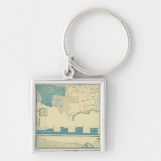 Silver and copper mining regions key ring