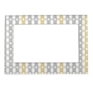 Silver and Gold Pattern Magnetic Picture Frame