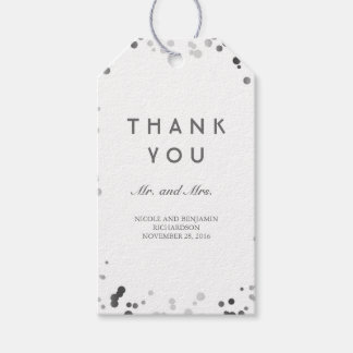 Silver and White Confetti Elegant Wedding