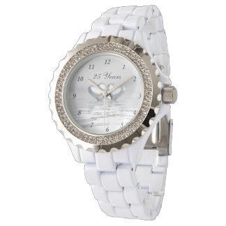 Silver Anniversary Hearts Watch