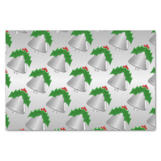 Silver Bell Silver Coloured Christmas Tissue Paper
