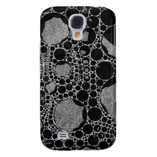 Silver Black Textured Abstract Galaxy S4 Case