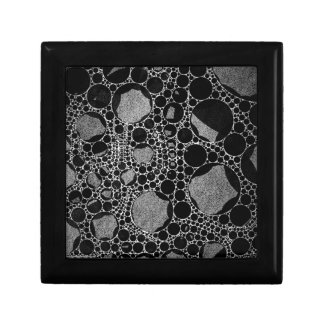 Silver Black Textured Abstract Gift Box