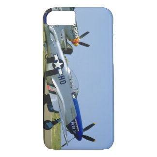 Silver & Blue, P51 Mustang, Side_WWII Planes iPhone 8/7 Case