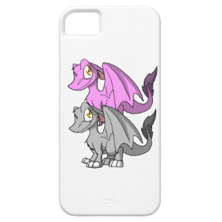 Silver/Bubblegum SD Furry Dragon Barely There iPhone 5 Case