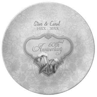Silver Calla Porcelain 60th Anniversary Plate Porcelain Plates