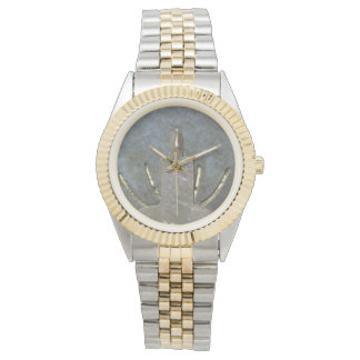 Silver Candle Gold Stripes Watch