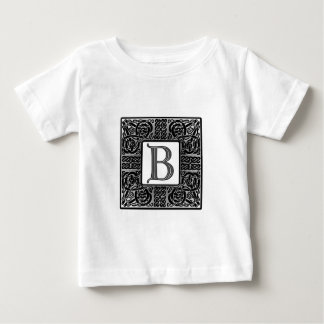 "Silver Celtic ""B"" Monogram Baby T-Shirt"