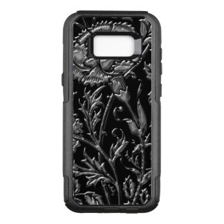 Silver Colored Floral Pattern OtterBox Commuter Samsung Galaxy S8+ Case
