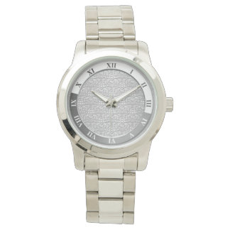 Silver Damask Metallic Watch
