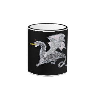 Silver Dragon Night Ringer Mug