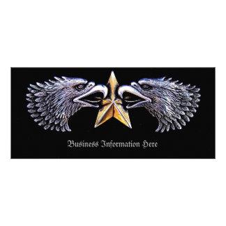 Silver Eagles and Star Bookmark Rack Custom Rack Cards