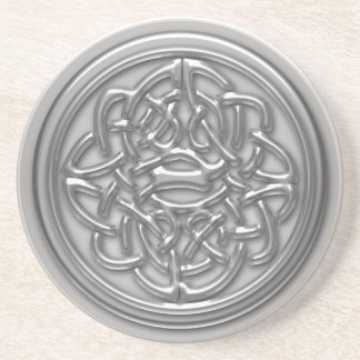 Silver Embossed Effect Cletic Knot Coaster