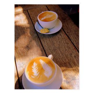 Silver Fern Cappuccino Postcard