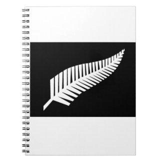 Silver Fern Flag of New Zealand Notebook