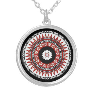 Silver Fijian Medallion Silver Plated Necklace
