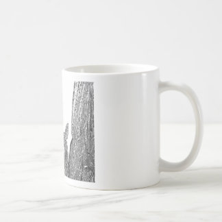 SILVER foil Cactus  -  Green Theme Basic White Mug