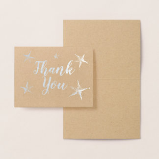 Silver Foil Stafish Thank You Foil Card