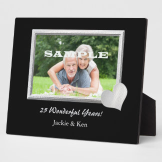 Silver Frame Heart Anniversary Photo Template