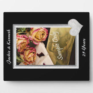 Silver Frame Wedding Anniversary Template