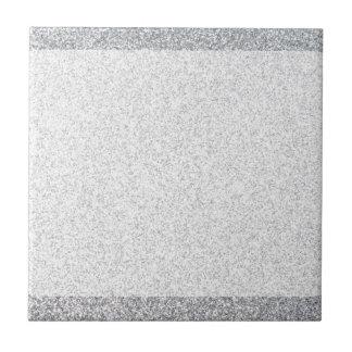 Silver glitter blank template small square tile