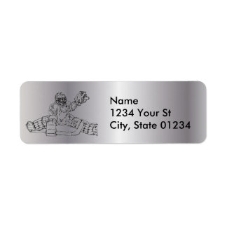 Silver Goal Tender Return Address Labels