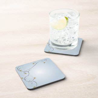 Silver/Gold Branches with Butterflies Blue Cork Co Beverage Coasters