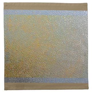 Silver Gold Metal Texture Pattern Look Elegant Napkin