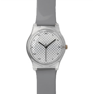 Silver Gradient Polka Dots by Shirley Taylor Watch