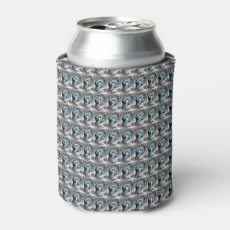 Silver Gray Beer Sleeve Can Cooler