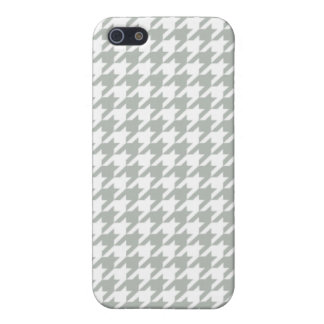 Silver Gray Houndstooth iPhone 5 Cases