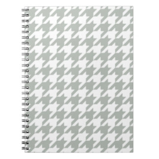 Silver Gray Houndstooth Notepad Spiral Notebook