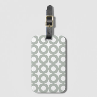 Silver Gray Scandinavian Design Baggage Labels Luggage Tag
