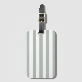 Silver Gray Stripe Baggage Labels Bag Tag