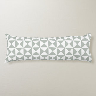 Silver Gray Trellis Pattern Body Pillow